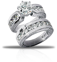Take Her Breath Away With A One Of Kind Diamond Engagement Ring Set